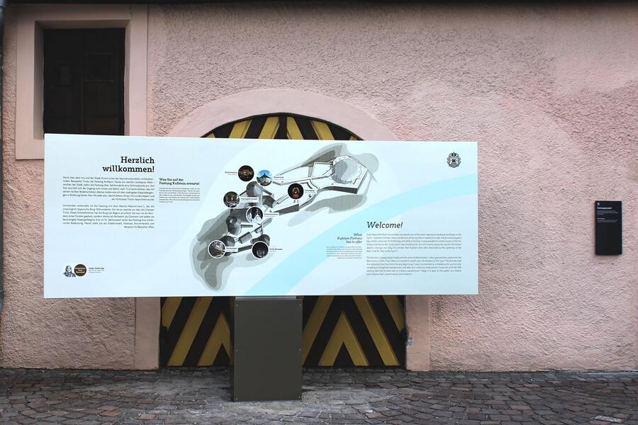 INFORMATIONS- und LEITSYSTEM, Festung Kufstein, Freigelände
